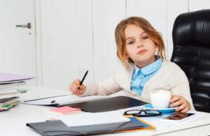 Ребенок на работе